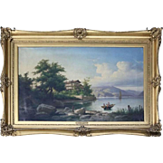 Fine Antique Oversized Guiseppe Camino Oil on Canvas, circa 1850