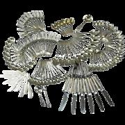 116 Pc Danish Modern Tiffany Sterling Silver Flatware Set Service for 12, 170ozt