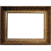 Antique Ornate First Finish Gold Gilt Gesso on Wood Frame, Late 19th Century