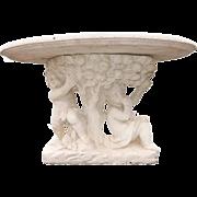 Italian Rococo Style Cherub Oval Garden Table, circa 1950