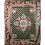 Vintage French Aubusson Style Tapestry Carpet, circa 1950