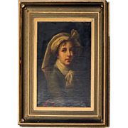 Old Master Copy O/C after 1840 Self Portrait by L. E. V. Le Brun, Late 19th