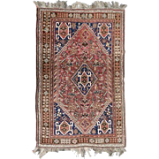 "Semi-Antique Shiraz Oriental Rug, 5'3""x8', circa 1960"