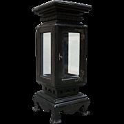Kimbel & Cabus Ebonized Hardwood with Bronze Curio Stand, 19th Century