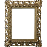 Antique French Rococo 1st Finish Gold Gilt Reticulated Frame, circa 1900