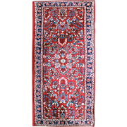 "Semi-Antique Sarouk Persian Runner, Basiran, 80""x30.5"", circa 1940"