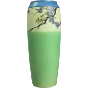 Antique Rookwood Pottery Floral Painted Vase, Vellum, 1921