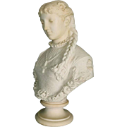 19th Century Classical Italian Carved Alabaster Sculpture of a Maiden