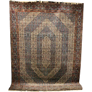 Semi Antique Tabriz Mahi Design Persian Oriental Carpet, circa 1940