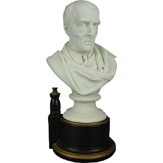 Antique English Parian Bust of Wellesley, Duke of Wellington after J. Pitts