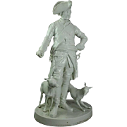 """Antique """"Frederick The Great Whippets"""" Blanc De Chine Sculpture, circa 1870"""