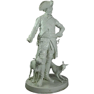 "Antique ""Frederick The Great Whippets"" Blanc De Chine Sculpture, circa 1870"