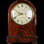 Antique English Regency Frodsham Mahogany Bracket Clock and Shelf, circa 1850