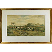 "Antique Scottish Watercolor ""Cattle in a Landscape"" by John MacPherson, dtd 1879"