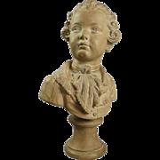 Louis XIV Style Terra Cotta Bust of Boy, Louis Joseph Xavier François