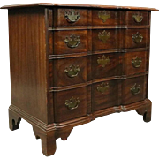 Chippendale Style Mahogany and Bronze Block Front Butler's Chest, circa 1940