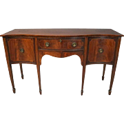 Vintage Satinwood Banded Mahogany and Bronze Federal Style Sideboard, circa 1930