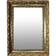 Antique French Style First Finish Gold Giltwood Framed Wall Mirror, circa 1880