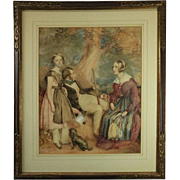 Antique English Watercolor Painting by Thomas Mogford of Exeter, Signed, 1844
