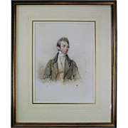 Antique English Watercolor of Henry Russell by G. Richmond, Dated 1839
