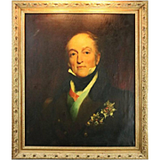 18th Century English Oil on Canvas Painting of a Decorated Military Officer