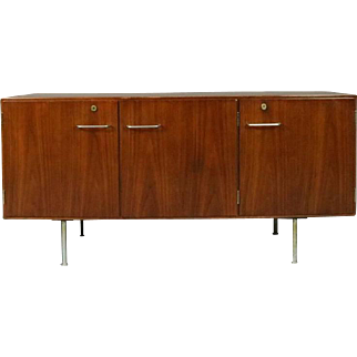 Danish Mid-Century Modern Walnut and Chrome Credenza, circa 1960