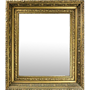 Antique Giltwood 1st Finish Continental Style Framed Mirror, circa 1900