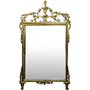 Large Vintage French Louis XIV Gilt Mirror with Rinceau & Palmette, circa 1950