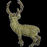 Antique Geschutzt F. Bergmann School Austrian Cold Painted Bronze Stag