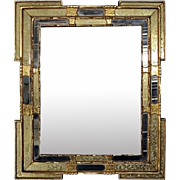 Vintage Venetian Style Giltwood and Stenciled Wall Mirror, circa 1950
