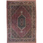 Vintage Hand-Knotted Bidjar Type Persian Carpet, approx 8'x10', circa 1950
