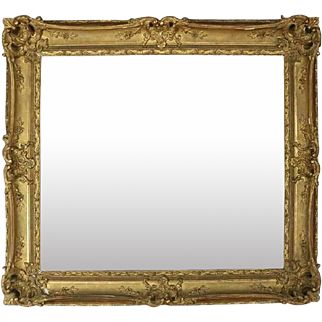 Oversized Antique French Louis XIV Giltwood Frame, circa 1890