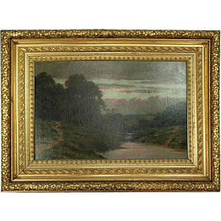 Antique Hudson River School Oil on Canvas Painting, circa 1880