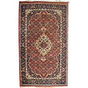 Antique Hand-Knotted Kashan Persian Oriental Rug, circa 1930