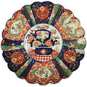 Antique Hand-Painted Japanese Meiji Porcelain Charger, circa 1890