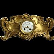 Antique Barbedienne French Gilt Bronze Mantle Clock, circa 1870