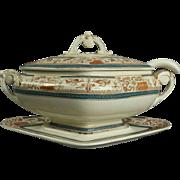 Antique Aesthetic Movement English Porcelain Staffordshire Tureen, circa 1870