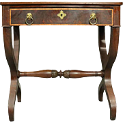 Antique English Regency Mahogany Dressing Table, Early Form, circa 1820