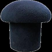 Mid-Century Modern Upholstered Mushroom Sculptural Footstool, Navy, circa 1960