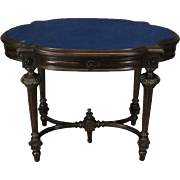 Antique French, Louis XVI Style Walnut Single Drawer Library Table, circa 1880
