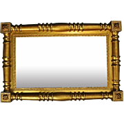 Antique American Empire 1st Finish Giltwood Wall Mirror, circa 1840
