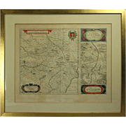 Antique French Copper Engraved and Hand Colored Maps, Amsterdam, 18th Century