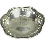 Antique Tiffany & Co. Reticulated Sterling Silver Footed Candy Dish, circa 1930