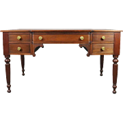 Antique English Sheraton Mahogany and Bronze Partner Desk, circa 1820