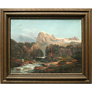 Antique Oil on Canvas of Western Landscape by C. M. McBryde, 1867