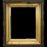 Antique Eastlake Incised Walnut, Giltwood and Ebonized Frame