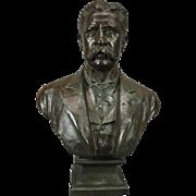 Antique 3/4 Bronze Bust of Teddy Roosevelt by B. Feinberg, New York, circa 1890