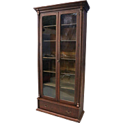 Monumental Antique Architectural Oak Enclosed Bookcase, 19th Century