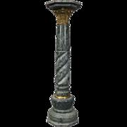 Antique Neoclassical Marble & Bronze Sculpture Pedestal, circa 1890