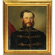 Antique English Oil on Canvas Military Portrait of Prince Albert, circa 1850